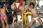Jordan Capri and her girlfriends get naughty in the pool! from Jordan Capri