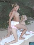Watch these two as they ride each other piggy back right next to a pool. from Jordan Capri