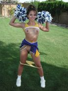 Brunette cheerleader plays around from Jordan Capri
