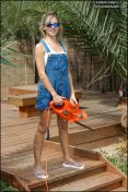 Cutie dresses up and gets ready for a long day of yard work, clearing brush. from Jordan Capri