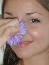 Jordan Capri plays with flowers on her naked body! from Jordan Capri
